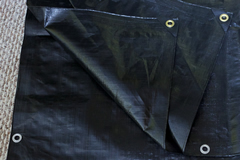 Heavy Duty Black Poly Tarp from Tarps Online