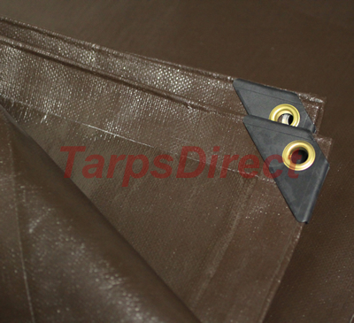 Heavy Duty Brown Poly Tarp from Tarps Online