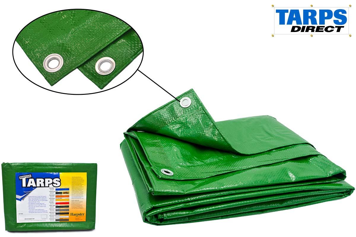 Medium Green Poly Tarps from Tarps Online